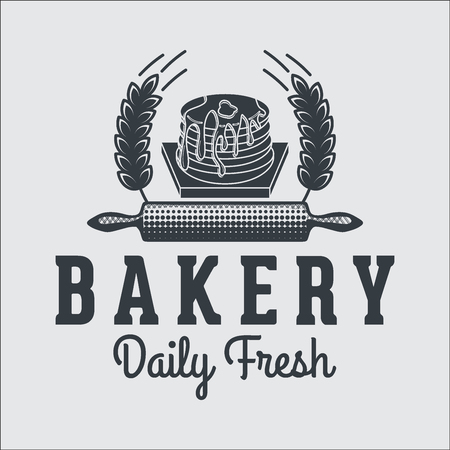 bakery products: Bakery bread vintage retro badges labels