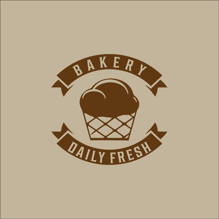 bakery products: bakery logo vector Illustration