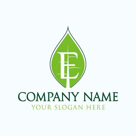 initial organic logo
