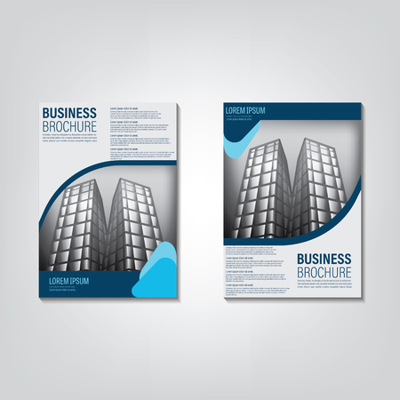 real estate brochure template Illustration
