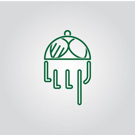 plate restaurant logo Stock Illustratie