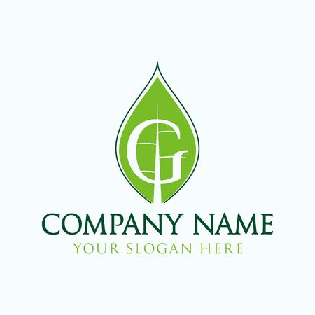 initial G logo leaf Logo