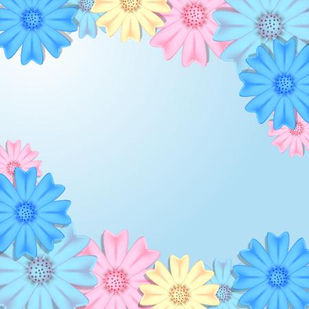 Flower background Vector illustration 矢量图像