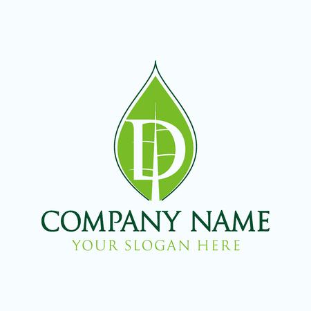 initial D logo leaf Ilustração