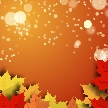 Vector illustration of a beautiful autumn background Ilustração