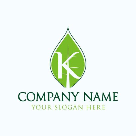 initial K logo leaf Stock fotó