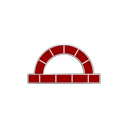 red brick, furnace logo design inspiration Logo