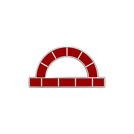 red brick, furnace logo design inspiration