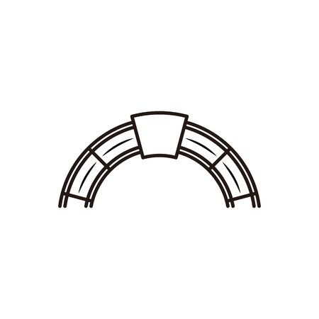 red brick, furnace logo design inspiration Stock Vector - 108327268