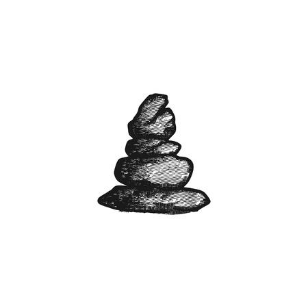 stone balance, yoga logo design inspiration Stock Illustratie