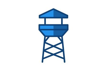 beach lifeguard logo design inspiration Ilustração