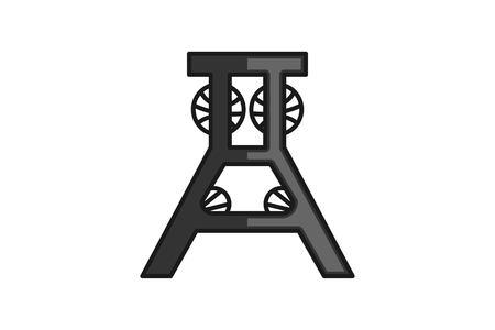 draper fold down workbench cinema logo design inspiration