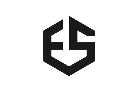 Letter E S Monogram logo Designs Inspiration Isolated on White Background