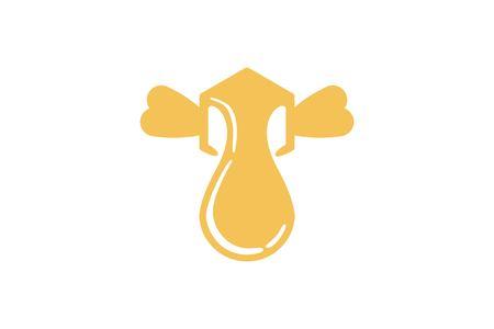 Box Bee Honey flying logo Designs Inspiration Isolated on White Background Stock Illustratie