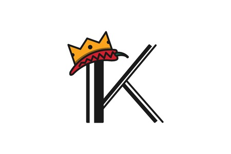 Letter K and crown, King queen Logo Designs Inspiration Isolated on White Background