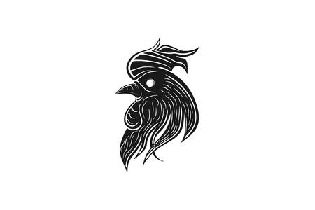 Tête de coq de poulet dessins de logos Inspiration isolé sur fond blanc Logo