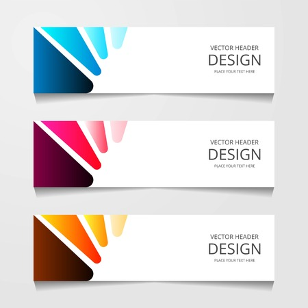 Abstract design banner, web template, layout header templates, modern vector illustration