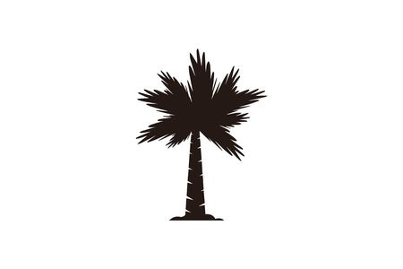 palm tree logo Designs Inspiration Isolated on White Background Vettoriali
