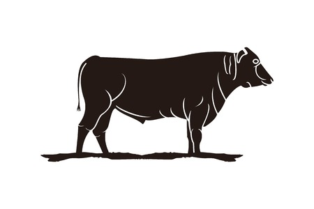 slaughter, Cattle , Beef logo Designs Inspiration Isolated on White Background Иллюстрация