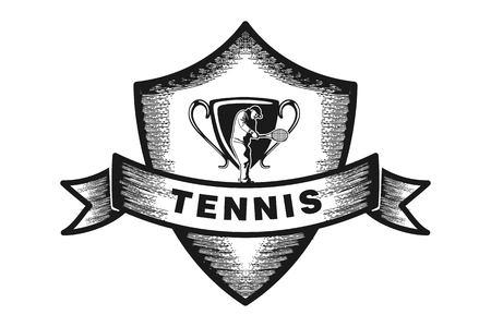 tennis badge logo Designs Inspiration Isolated on White Background