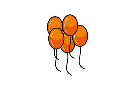 flying balloon decoration logo Designs Inspiration Isolated on White Background