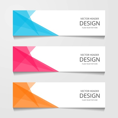 Abstract design banner, web template, layout header templates, modern vector illustration Foto de archivo - 112314900