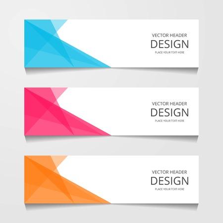 Bannière de conception abstraite, modèle Web, modèles d'en-tête de mise en page, illustration vectorielle moderne Vecteurs
