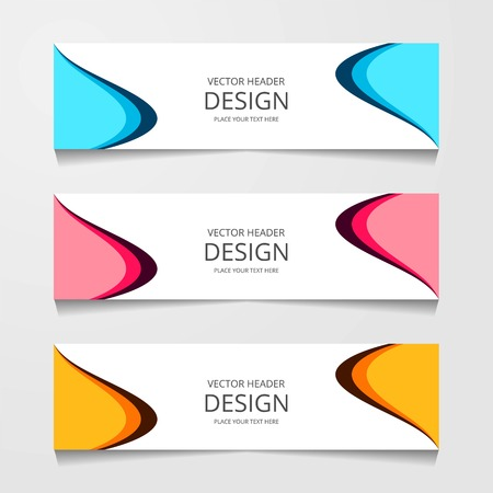 Abstract design banner, web template, layout header templates, modern vector illustration
