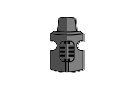 rebuildable drip and tank vape atomizers types RDA RDTA RBA RTA logo Designs Inspiration Isolated on White Background