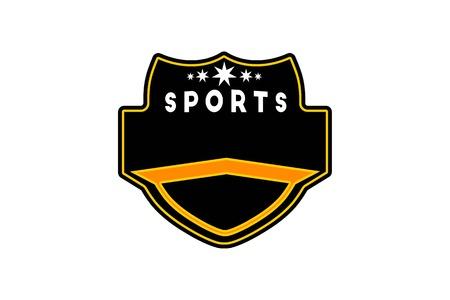 Insignia deportiva plantilla Diseños de logotipo inspiración aislado sobre fondo blanco. Logos