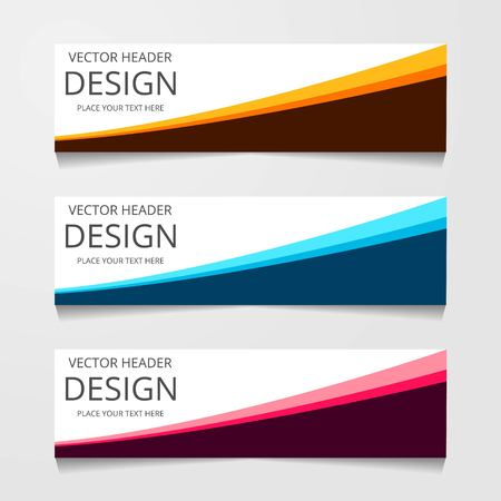 abstract geometric design banner web template. Vector Illustration Ilustração