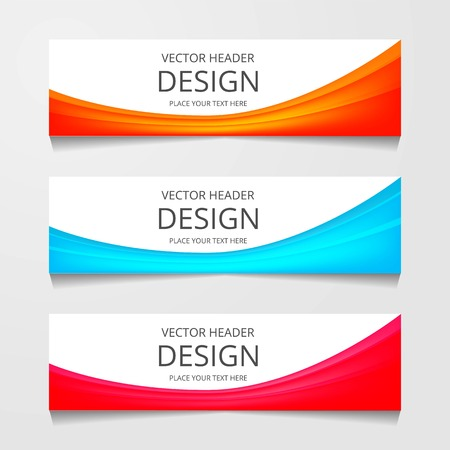 Vector abstract web banner design template. Collection of web banner template. Abstract geometric web design banner template isolated on grey background. Header - landing page Web Design