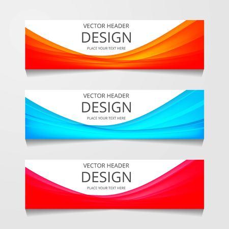 Vector abstract web banner design template. Collection of web banner template. Abstract geometric web design banner template isolated on grey background. Header - landing page Web Design