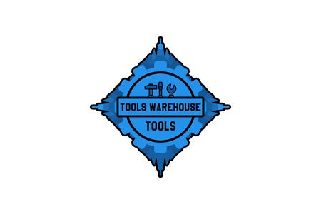 ware house tool logo Designs Inspiration Isolated on White Background