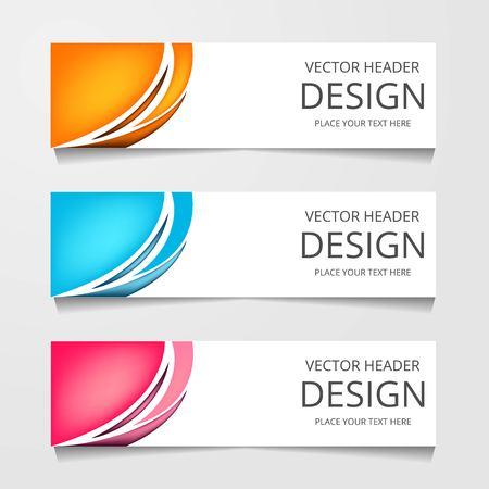 Set Of Modern Global Business Design Banner Template