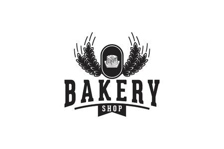 Cupcake, wheat, grain, rice, bakery logo