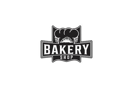 Pastries, Wheat Grain, Chef Hat, Vintage Bakery Logo Logo