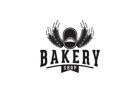 Wheat Grain and pastries, Bakery Logo Illusztráció