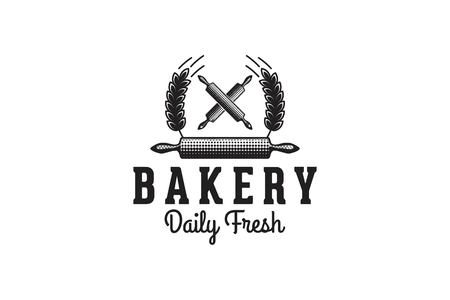 rolling pin, bakery logo Designs Inspiration Isolated on White Background