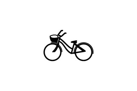 Bicycle Mono Line Logo Designs Inspiration Isolated on White Background Banco de Imagens - 113727822