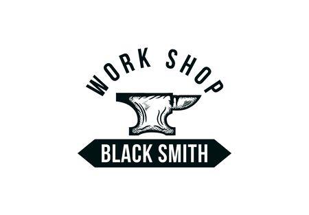 Forge, blacksmith label.