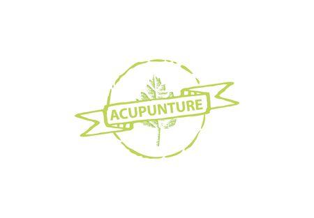 Leaf Acupuncture Label, Designs, Vector Illustration Stock Illustratie