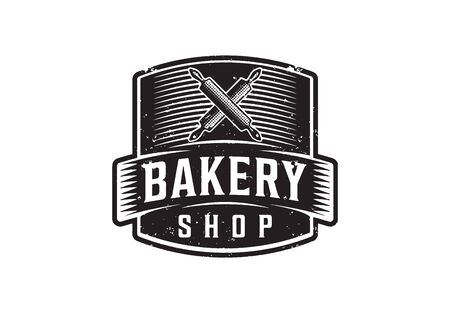 Vintage, Retro Bakery Shop Logo, Vector Illustration Illustration
