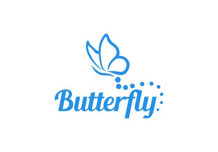 Abstract Butterfly logo template. simple Vector logo illustration.