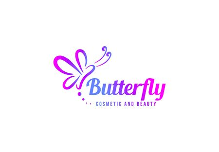 Butterfly logo template design. Minimalist Butterfly with modern frame vector design Иллюстрация
