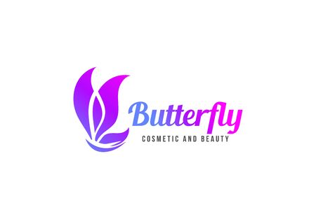 Butterfly template design. Minimalist Butterfly with modern frame vector design
