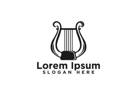 Harp, Musical design, vector illustration