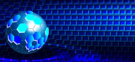 Digital Tech Globe. Ball Round Technology. Vector Illustration