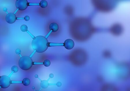 Abstract molecules design. Vector illustration. Atoms. Medical background for banner or flyer