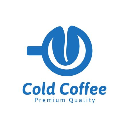 cold coffee logo Ideas. Inspiration logo design. Template Vector Illustration. Isolated On White Background